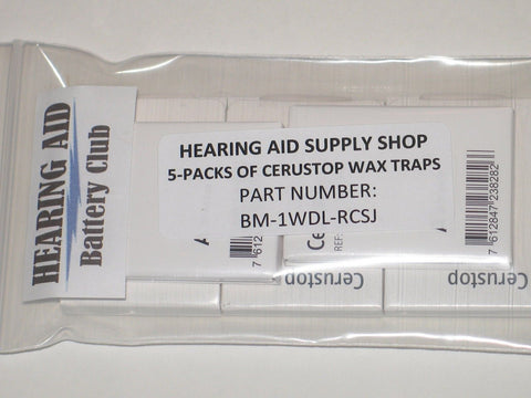 (5 Packs) Genuine Phonak Cerustop Wax Traps ...IN THE CERUSTOP Wrapper - Chickadee Solutions - 1