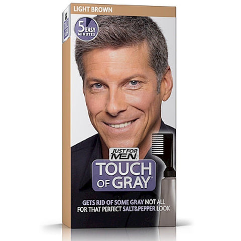 touch of gray men s hair color light brown pack of 4