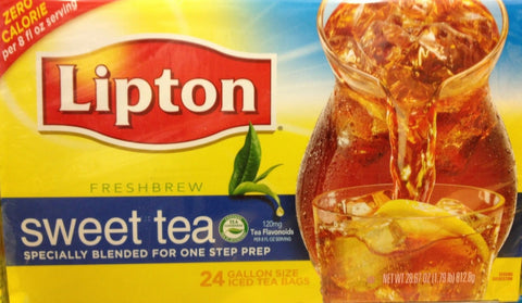 24 Gallon Size Lipton Sweet Iced Tea Bags (1 Box per order) - Chickadee Solutions