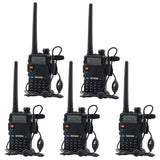 5 Pack BaoFeng UV-5R 136-174/400-480 MHz Dual-Band Two Way Radio + Baofeng Pr... - Chickadee Solutions - 1