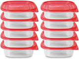 Food Storage Container - (750ml/25oz) - Red (20-Piece) - BPA Free - Reusable ... - Chickadee Solutions - 1