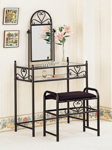 Coaster Vanity Table Set in Black - Chickadee Solutions