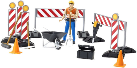 Bruder Bworld Construction Set with Man (Colors May Vary) - Chickadee Solutions - 1