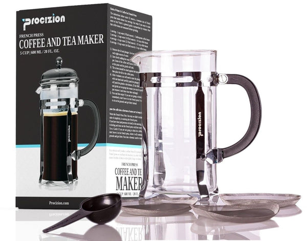 Coffee Maker 20 Cup : Procizion French Press Coffee Espresso and Tea Maker 20 Ounce 5 Cup Pot Chrome Chickadee Solutions