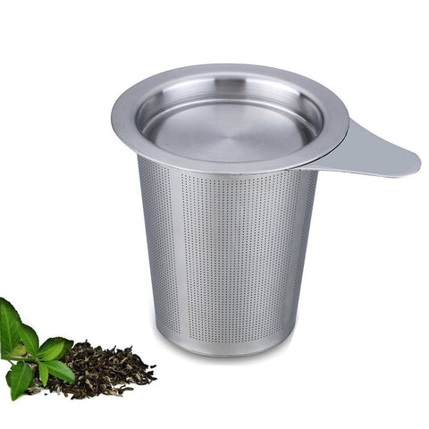 Ilyever Ultra Large Fine Brew-in-mug Tea Infuser with Lid-Stainless Steel Lar... - Chickadee Solutions - 1