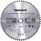 Concord Blades ACB0825T060HP 8-1/4-Inch 60 Teeth TCT Non-Ferrous Metal Saw Bl... - Chickadee Solutions
