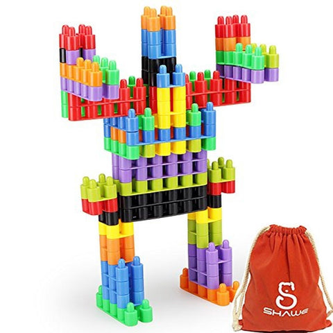 SHAWE 100 PC Interlocking Building Set -Fine Motor Skills- Children Imaginati... - Chickadee Solutions - 1