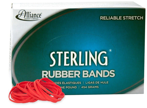 Alliance Sterling Rubber Band - Red - Size #33 (3 1/2 x 1/8 Inches) - 1 Pound... - Chickadee Solutions - 1