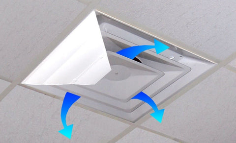 Airvisor air deflector for office ceiling vents 24 x 24 for How to improve airflow in vents