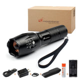Moobibear MD002 Tactical Flashlight with Adjustable Focus Handhold LED Flashl... - Chickadee Solutions - 1