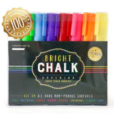 Liquid Chalk Markers Pens 8-Pack by CraftMore: Brightly Colored Vibrant & Lon... - Chickadee Solutions - 1