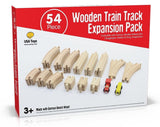 Wooden Train Track 54 Piece Set - Compatible with Thomas Wooden Railway Chugg... - Chickadee Solutions - 1