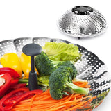 Vegetable Steamer X-chef Stainless Steel Foldable Food Steamer Basket with Ex... - Chickadee Solutions - 1