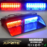 Xprite Red & Blue 16 LED High Intensity LED Law Enforcement Emergency Hazard ... - Chickadee Solutions - 1