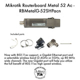 Mikrotik Routerboard Metal 52 Ac Outdoor Wireless Ap 802.11ac- RBMetalG-52SHP... - Chickadee Solutions