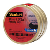 Scotch(R) Home and Office Masking Tape 3436-3 3/4-inch x 60 Yards 3 Pack 1-Pack - Chickadee Solutions