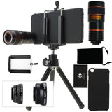 CamKix Camera Lens Kit for iPhone 6 / 6S - including 8x Telephoto Lens / Fish... - Chickadee Solutions - 1