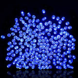 Outdoor Solar Powered String Lights easyDecor 8 Mode 200 LED 72ft Blue Waterp... - Chickadee Solutions - 1
