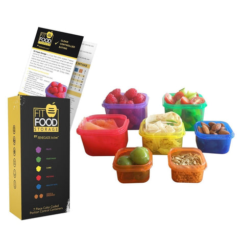 **FLASH SALE** Multi Colored 7 Piece Portion Control Food Storage Containers ... - Chickadee Solutions - 1