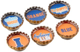 Kate Grenier Designs University of Illinois Bottle Cap Magnets - Chickadee Solutions