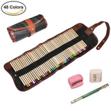 AIVN Colored Pencils Set 48 Colors - with Canvas Case Bag Eraser Sharpener Ex... - Chickadee Solutions - 1