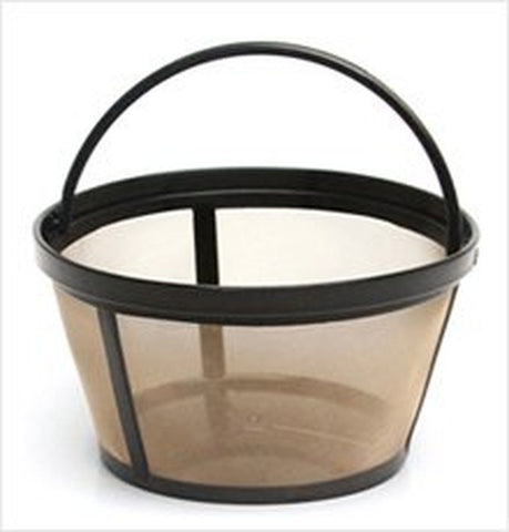 Permanent Basket-Style Gold Tone Coffee Filter designed for Mr. Coffee 10-12 ... - Chickadee Solutions - 1