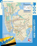 New York Puzzle Company - New York City Transit MTA Subway Map - 500 Piece Ji... - Chickadee Solutions - 1