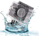 Logicom Mini Waterproof 1080p HD Action Camera 2-Inch LCD Screen with Mounts - Chickadee Solutions - 1