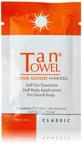 Tan Towel Half Body Towels Classic 10 Count One Pack of 10 Tan Towel - Chickadee Solutions - 1
