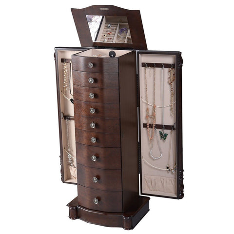 Image Result For Giantex Wood Jewelry Cabinet Armoire Box