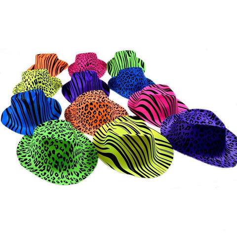 Novelty Place [Party Stars] Neon Color Animal Zebra and Leopard Print Plastic... - Chickadee Solutions - 1