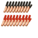 uxcell 20 Pcs Black Red Copper Plated Metal Battery Clips Alligator Clamps 50A - Chickadee Solutions