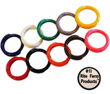 "10 MULTI COLORED #11 LEG BANDS 11/16"" CHICKEN POULTRY CHICK QUAIL PIGEON DUCK... - Chickadee Solutions"