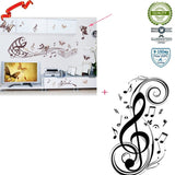 Ieasycan Music Notes Vinly Wall Sticker Art Home Room Decol Decal Removable