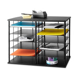 "Rubbermaid 12-Slot Organizer 21W x 11 3/4""""D x 16""""H Black (1738583) 1-Pack - Chickadee Solutions - 1"