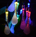 Kitclan 20ft 30LEDs Outdoor Solar String Lights - Multi-color Water Drop Stri... - Chickadee Solutions - 1