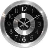 Infinity Instruments Mercury Black Silent Sweep 10 Inch Aluminum Wall Clock - Chickadee Solutions