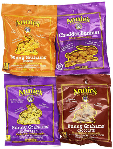 Annie's Cheddar Bunnies/Bunny Grahams Variety Pack 36-1 oz. Snack Packs - Chickadee Solutions - 1