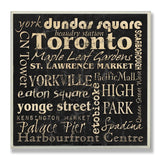 The Stupell Home Decor Collection Toronto Landmarks Square Wall Plaque - Chickadee Solutions - 1