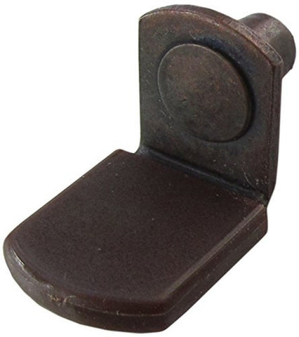"1/4"" Glass Shelf Support Pegs w/ Brown Vinyl Sleeve - Bracket Style - Antique... - Chickadee Solutions - 1"