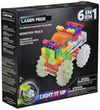 Laser Pegs 6-in-1 Monster Truck Building Set - Chickadee Solutions - 1