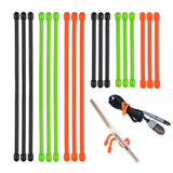 Lizber Rubber Twist Ties - Reusable Gear Ties 18PCS (3 Inch and 6 Inch) - Gre... - Chickadee Solutions - 1