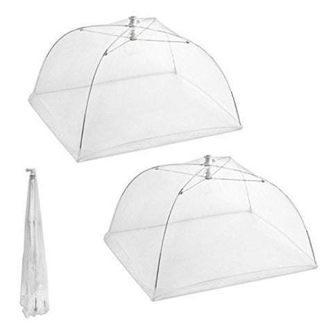 Ambox Set of 2 Large Pop-Up Mesh Screen Food Cover Tents - Keep Out Flies Bug... - Chickadee Solutions - 1
