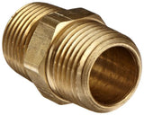 "Anderson Metals 56122 Brass Pipe Fitting Hex Nipple 1/2"" x 1/2"" NPT Male Pipe - Chickadee Solutions - 1"