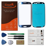 CrazyFire Pebble Blue New Front Outer Lens Glass Screen Cover Replacement For... - Chickadee Solutions - 1