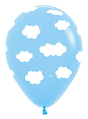 6 party BALLOONS new LIGHT blue CLOUDS birthday ANY OCCASION favors DECORATIONS - Chickadee Solutions