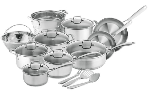 Chef's Star Professional Grade Stainless Steel 17 Piece Pots & Pans Set - Ind... - Chickadee Solutions - 1