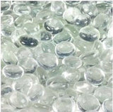 Dashington Flat Clear Marbles Pebbles (5 Pound Bag/80oz) for Vase Filler Tabl... - Chickadee Solutions - 1