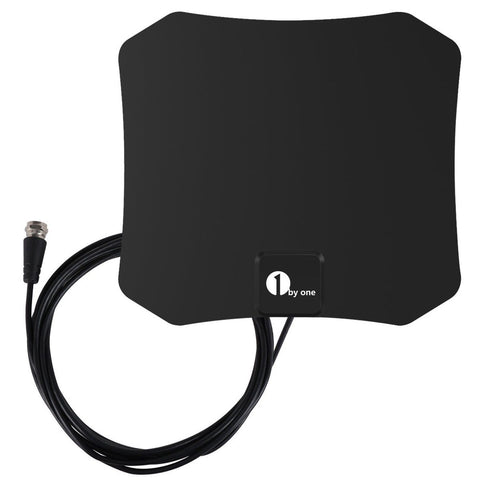 1byone Super Thin Indoor HDTV Antenna 25 Mile Range with 10 Feet High Perform... - Chickadee Solutions - 1