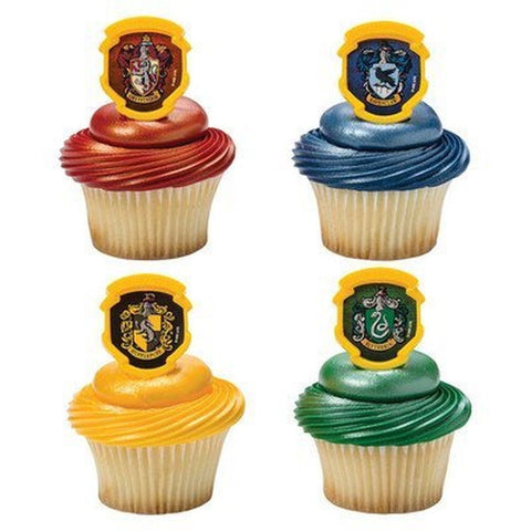 Harry Potter - Hogwarts Houses Cupcake Rings - 24 pc - Chickadee Solutions